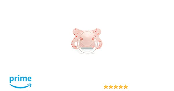 Suavinex 303144 - Chupete tetina anatómica silicona, 0-4 meses, golondrinas, color rosa