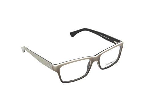 Emporio Armani EA 3050 Men's Eyeglasses White Gradient Black On Black (Emporio Armani Glasses Frames)