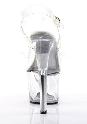 Dress Sandal Platform SKY308VL Clear Women's M C Clear Pleaser wg6SqUg