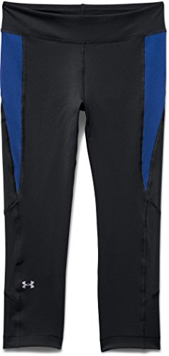 Under Armour 005-Heat Gear Crop Pantalon pour femme-Noir, 2x l