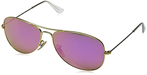 Ray-Ban Cockpit RB 3362 Sunglasses Matte Gold / Cyclamen Mirror 59mm & HDO Cleaning Carekit - Ray Ban Sunglasses 3362