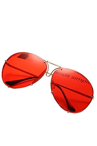 Ronda Para UV400 Hombres Mujeres De Moda Rojo O Polarizadas Gafas Sol De rBrqpH