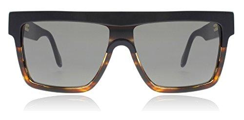 9cf777f4c13a9 Victoria Beckham VBS99 C03 Black   Tort Flat Top Visor Square Sunglasses  Lens Category 2 Size 57mm  Amazon.fr  Vêtements et accessoires