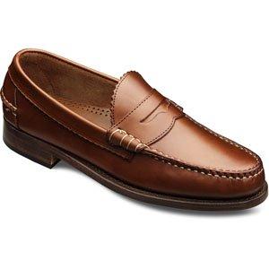 f1b032c68b1 Galleon - Allen Edmonds Men s Kenwood Penny Loafers 10.5 E Men 44000 Tan  Saddle Leather Loafers Shoes