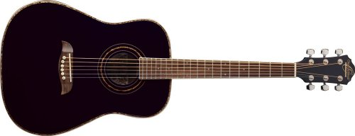 (Oscar Schmidt OG1B 3/4 Size Dreadnought Acoustic Guitar (High Gloss Black))