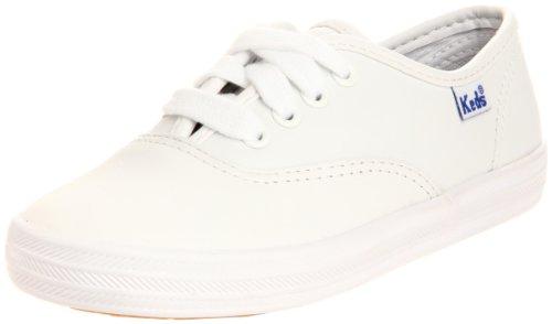 Keds girls Original Champion CVO Sneaker ,White Leather,1 M US Little Kid