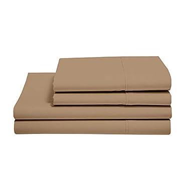 Amazon.com: Juego de sábanas y fundas de almohada de 100 ...