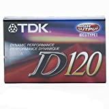 TDK D120 Dynamic Audio Cassette Tapes - 10 Pack