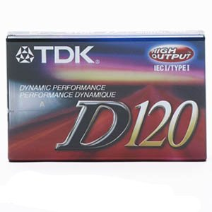 TDK D120 Dynamic Audio Cassette Tapes - 10 Pack by TDK