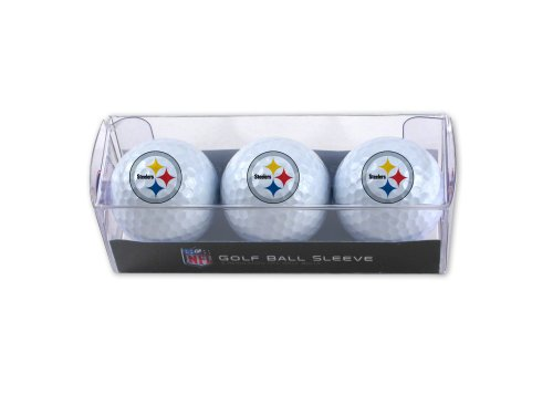 WinCraft NFL Pittsburgh Steelers 3-Pack Golf Ball Sleeve by WinCraft