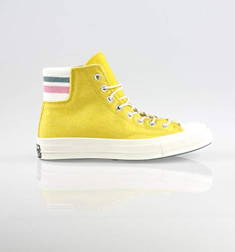 (Converse Unisex Chuck Taylor All Star 70 Hi Basketball Shoe (Mens 7.5 M US/Womens 9.5 M US, Bold Citron/Pink))