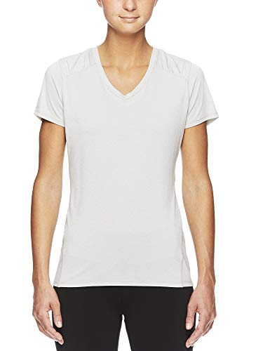 HEAD Womens High Jump Short Sleeve Workout T-Shirt - Performance V-Neck Activewear Top