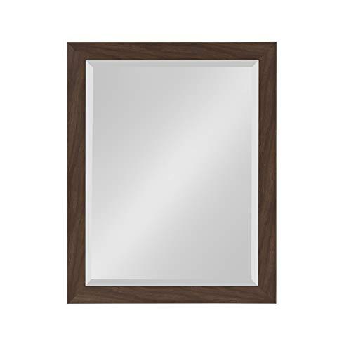 DesignOvation Beatrice Framed Wall Mirror, 21x27, Walnut -