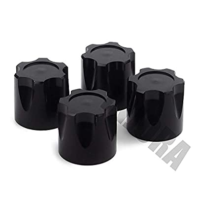 INJORA 4PCS Aluminium RC Car Wheel Rim Center Cap M4 Nut for 1/10 RC Crawler Traxxas TRX4 Axial SCX10 90046 D90 Tamiya MST (Black): Toys & Games