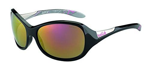 Bolle Grace Sunglasses, Shiny Black/Silver Rose Gold ()