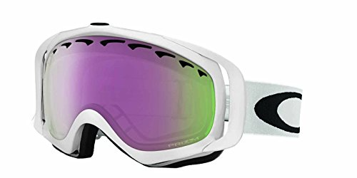 Oakley Crowbar Snow Goggles, Polished White, Prizm Hi Pink, - Ski Goggles Womens Oakley
