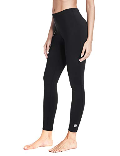 FitsT4 Women's Wintergear Mid-Weight Thermal Leggings Tights Fleece Lined Winter Base Layer Underwear Pants Black L