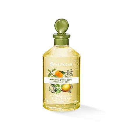 Yves Rocher LES PLAISIRS NATURE Pflanzliches Körper-/Massage-Öl Mandarine, Zitrone & Zeder, verwöhnendes Körper-Öl, 1 x Flacon 150 ml