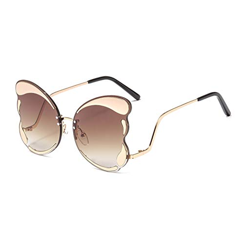(Naimo Unique Butterfly Shape Frame Fashion Sunglasses UV Protection )
