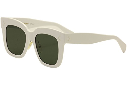 Celine CL41444/S RZ7 White Kim Square Sunglasses Lens Category 3 Size - Sunglasses Celine White