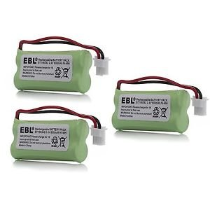 3 Pack of AT&T EL52313 Battery - Replacement for AT&T Cordless Phone Battery (800mAh, 2.4V, NI-MH) (Olympia Telephone)