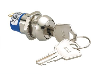 Keyed Cam Lock Electricity Powered, 16.7mm Comes with Two Keys, Great for Slot Machines, Arcade Machines, Electronics by Bliss Brands