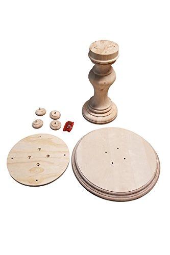 "BingLTD - 29"" Tall Bradford Round Pedestal Table Base (WH-Bradford29-UNF)"