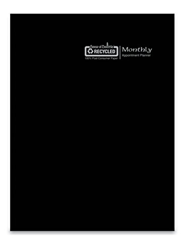 House of Doolittle 2018 Economy Calendar Planner, Monthly, Black Cover, 7 x 10 Inches, December - January (HOD260602-18)