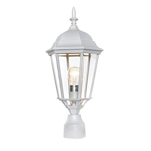 (Maxim 1005WT, Westlake Cast Aluminum Outdoor Post Lighting, 100 Total Watts, White)