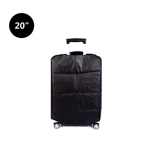 Travel Luggage Cover Luggage Protector Suitcase Cover Dust Cover,3 Colors,Fits 20 Inch,Black by CXGIAE (Image #2)