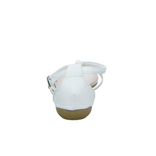 Topway B702180 Damen Sandalette bis 30mm Absatz Weiß (Weiß)