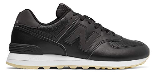 New Balance Mens 574 Luxe Leather Black Size 13 by New Balance