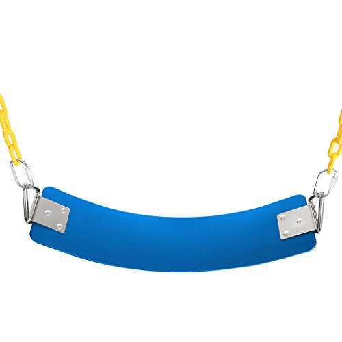 Children Swing,Heavy Duty Swing Seat with Metal Triangular Buckle 300kg /660 LB Weight Limit(66.7 x 14 cm) (Blue)