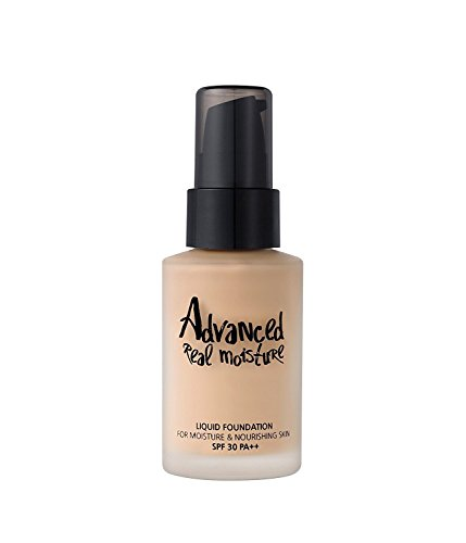 Touch In SOL Advanced Real Moisture Liquid Foundation – SPF30 PA++ – 30mL(#21 Nude Beige)