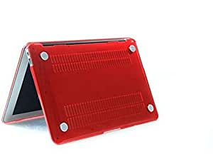 Crystal Hard Laptop Case Cover Shell For Macbook Pro 15 15.6 Inch Red Color