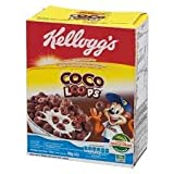 Kellogg's Coco Loops Whole Grain Breakfast Cereal Chocolate 25g (Pack of 6)