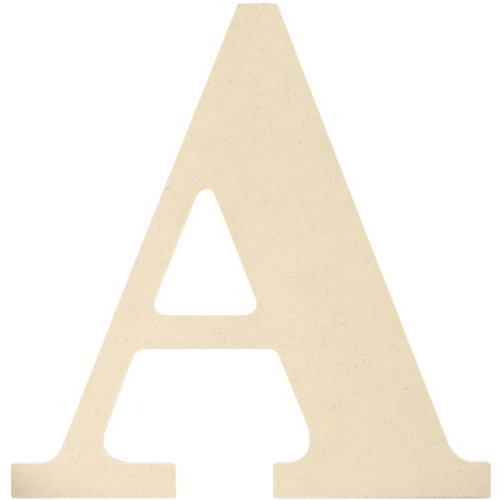 - MPI MDF Classic Font Wood Letters and Numbers, 9.5-Inch, Letter A