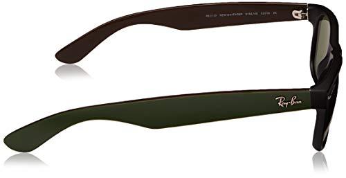 Wayfarer Noir Wayfarer Soleil Lunettes Vert Ban Ray 52 New RB2132 de Matte mm wp0MvTq