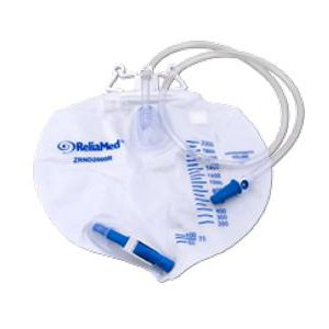 ReliaMed Standard Vented Drainage Bag with Double Hanger Anti-Reflux Valve 2,000 - Bags Drainage Wholesale