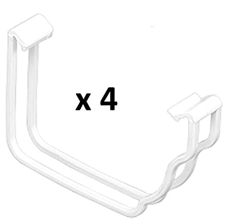 Pack of 2 x Marley Classic Spare Gutter Clips RCC51 WHITE for OGEE style 116 x 75 mm guttering system