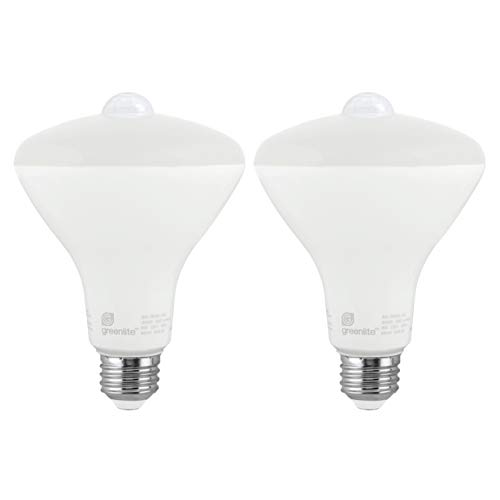 LED BR30 8W Motion Sensor Light Bulb, 3000K Bright White, 65W Equivalent, 650 Lumens, Indoor/Outdoor, E26 Medium Base, 120V, Energy Star, (2 - Pendant Light New 3 England