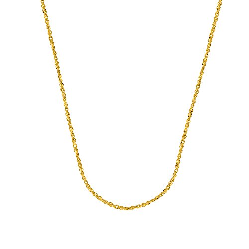 SINGAPORE CHAIN, 14KT GOLD SPARKLE SINGAPORE CHAIN WITH LOBSTER LOCK / 16