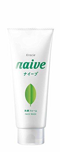 KRACIE NAIVE FACIAL CLEANSING FOAM GREEN TEA, 130G (Oil Cleansing Kracie)