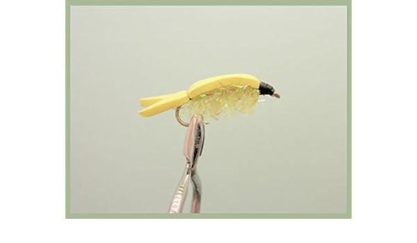 Amarillo Flotador Fry. 6 unidades amarillo flotante Fry tamaño 10 para pesca con mosca: Amazon.es: Deportes y aire libre