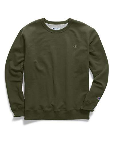 - Champion Men's Powerblend Fleece Pullover Sweatshirt, Hiker Green, Medium