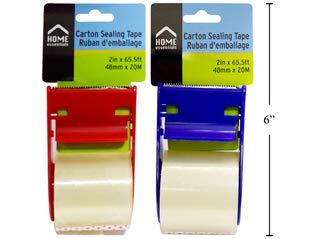 H.E Cinta de sellado de cartón – Cinta adhesiva fuerte para envío, correos, cajas de embalaje – 2 colores: Amazon.es: Industria, empresas y ciencia