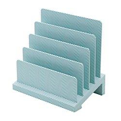 See Jane Work(R) Desktop File Sorter, 5 3/4in.H x 9in.W x 8 3/4in.D, Blue/White Herringbone