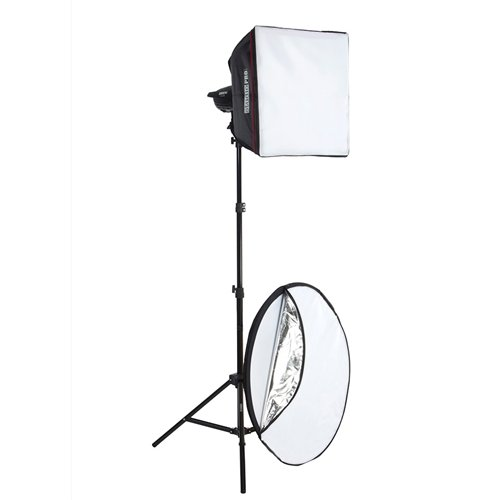 StudioPRO One 100W/s Monolight 20'' Square Photography Light Tent Softbox & 5 in 1 Reflector 42'' Portrait Kit by StudioPRO