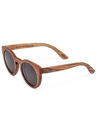 Unisex Polarisierte Akazien Holz Sonnenbrille mit Bambus-etui Jn7k20Hq4G