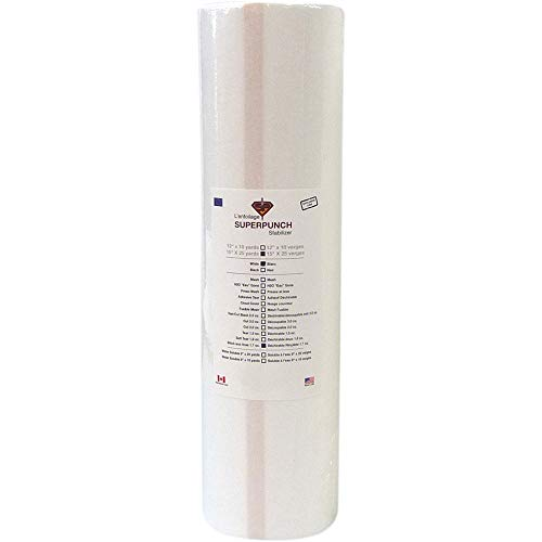 Stitch & Rinse Stabilizer 1.7 oz 14 inch x 25 Yard Roll. SuperStable Embroidery Stabilizer Backing